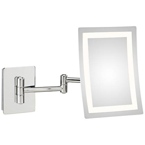 Ellie Chrome LED Makeup Wall Mirror