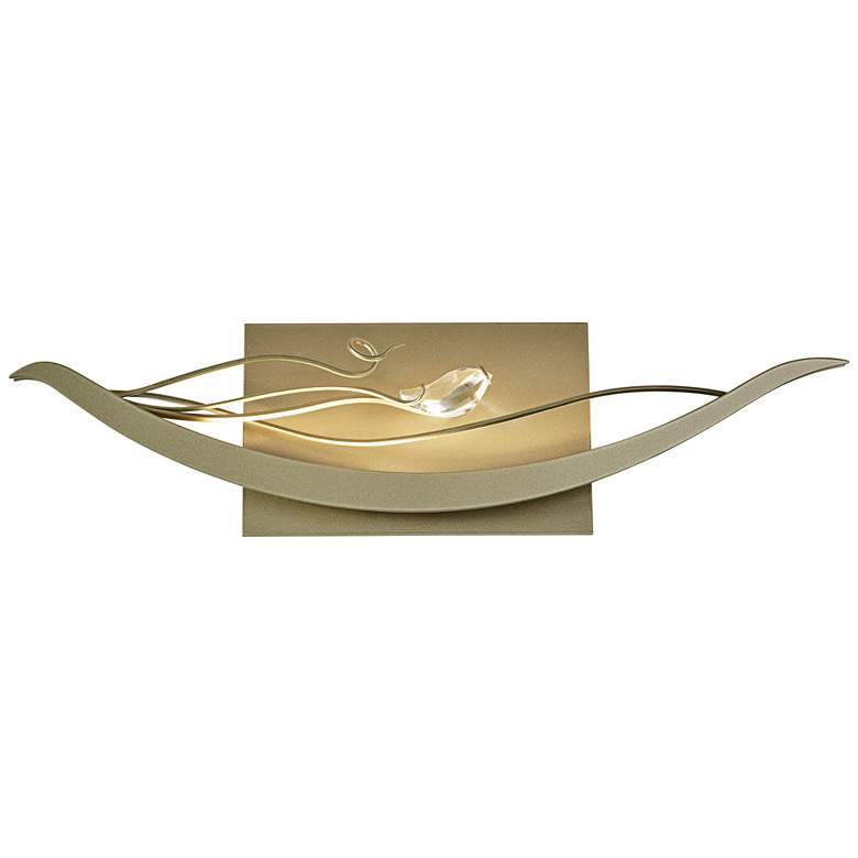 """Hubbardton Forge Courbe 6 1/2""""H Soft Gold LED Wall Sconce"""