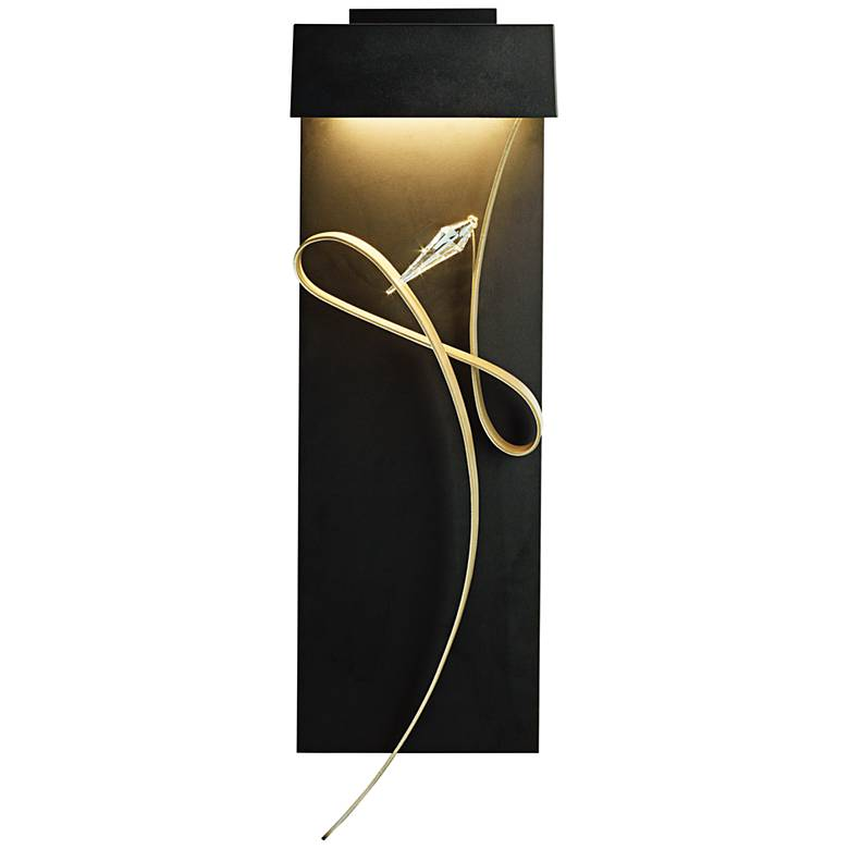 "Hubbardton Forge Synchronicity: Hubbardton Forge Rhapsody 26 1/2""H Black LED Wall Sconce"