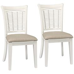Hillsdale Bayberry Off-White Fabric Dining Chair Set of 2
