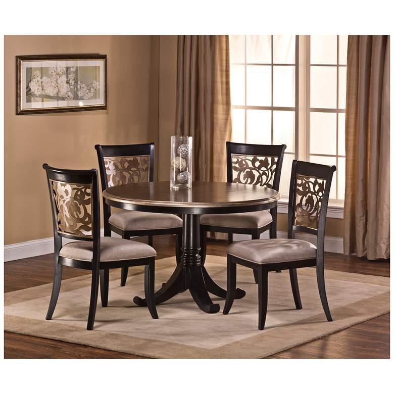 Bennington Black Distressed Gray 5-Piece Dining Set