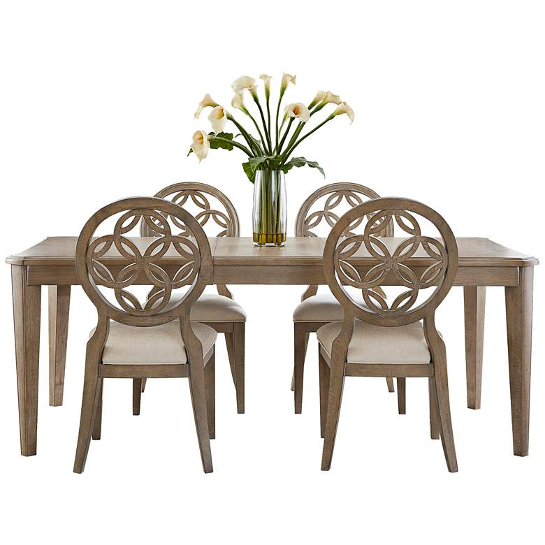 Hillsdale Savona Vintage Gray Wood 5-Piece Dining Set