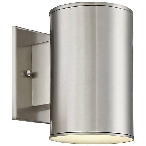"Barrow 7"" High Satin Platinum LED Outdoor Wall Light"