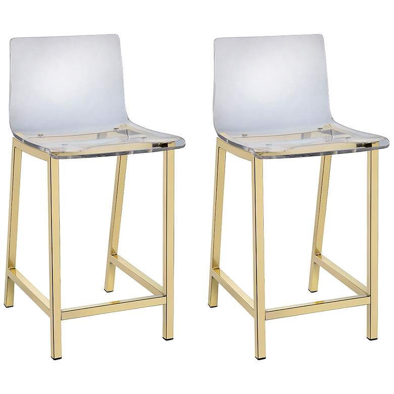 Super Tasker 24 Gold And Acrylic Counter Stool Set Of 2 Inzonedesignstudio Interior Chair Design Inzonedesignstudiocom