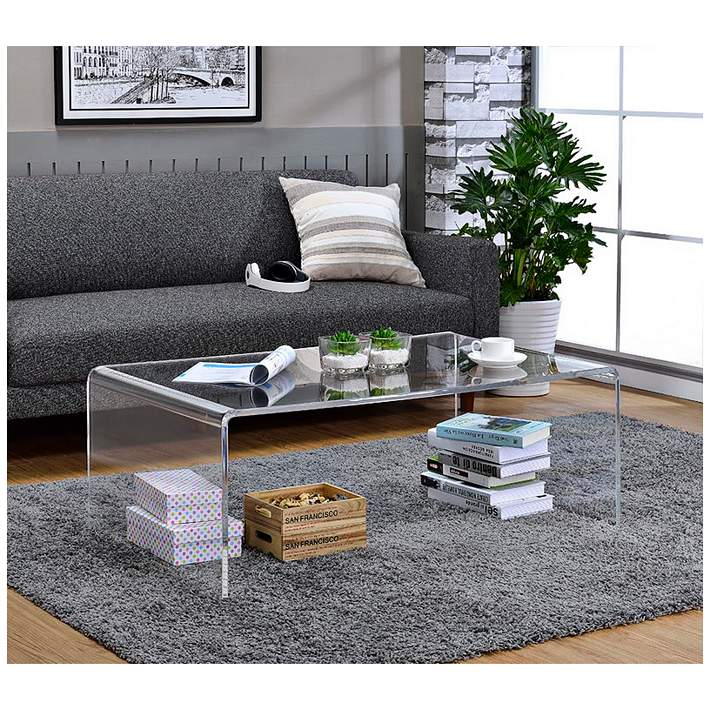 Sundeen 44 Wide Modern Acrylic Coffee Table