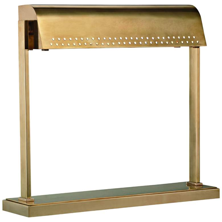 Hudson Valley Garfield Aged Brass LED Accent Table