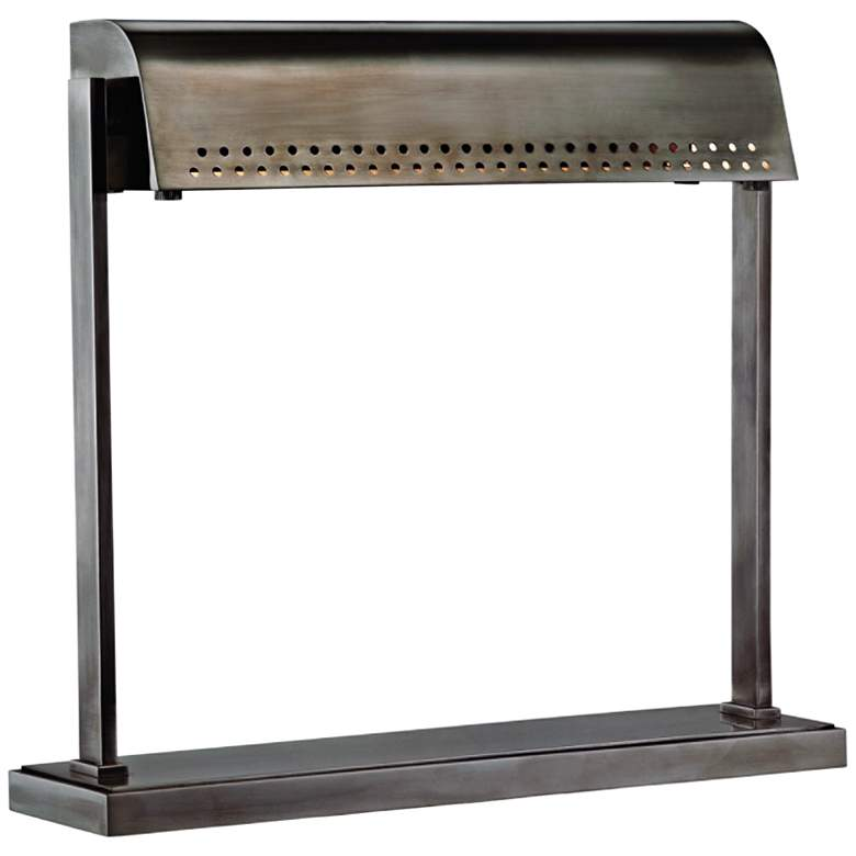 Hudson Valley Garfield Historic Nickel LED Accent Table