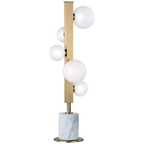 Hudson Valley Mini Hinsdale Aged Brass 5-LED Table Lamp
