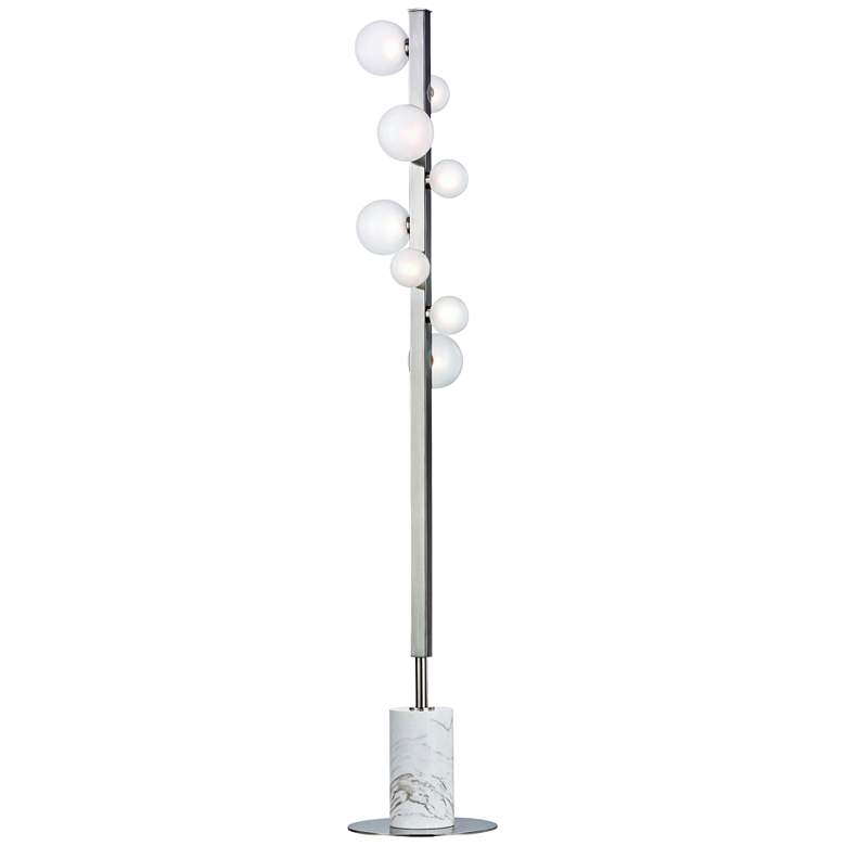 Hudson Valley Mini Hinsdale Polished Nickel 8-LED Floor Lamp