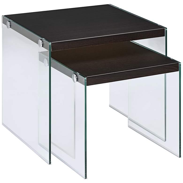"Upton 19 3/4"" Wide Modern Nesting Tables - 2 Piece Set"