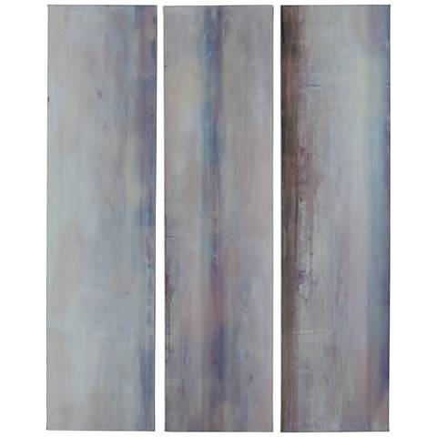 "River Valley 48"" High Canvas Wall Art Set of 3"