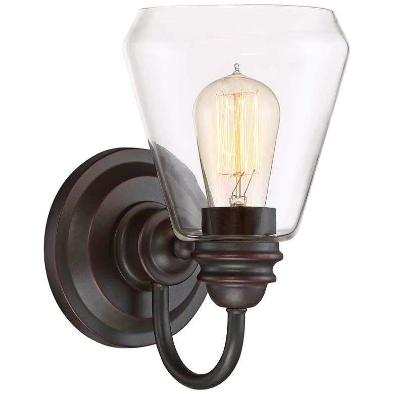 """Foundry 10"""" High Satin Bronze Wall Sconce"""