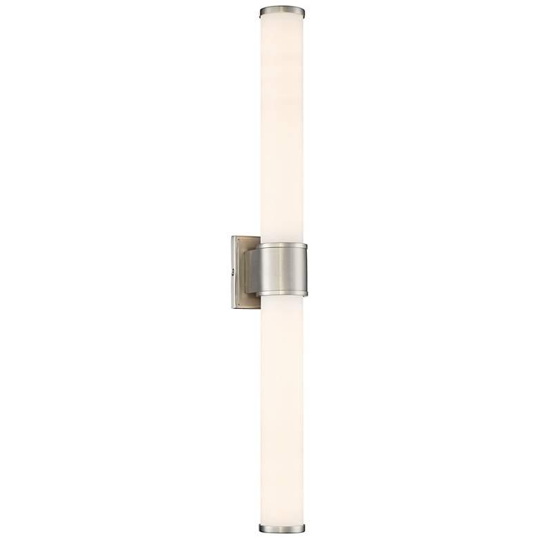 """Linden 30"""" Wide Satin Platinum LED Bath Light"""