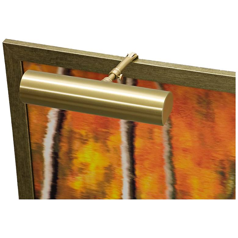 """House of Troy Contemporary 9"""" Wide Satin Brass Picture Light"""
