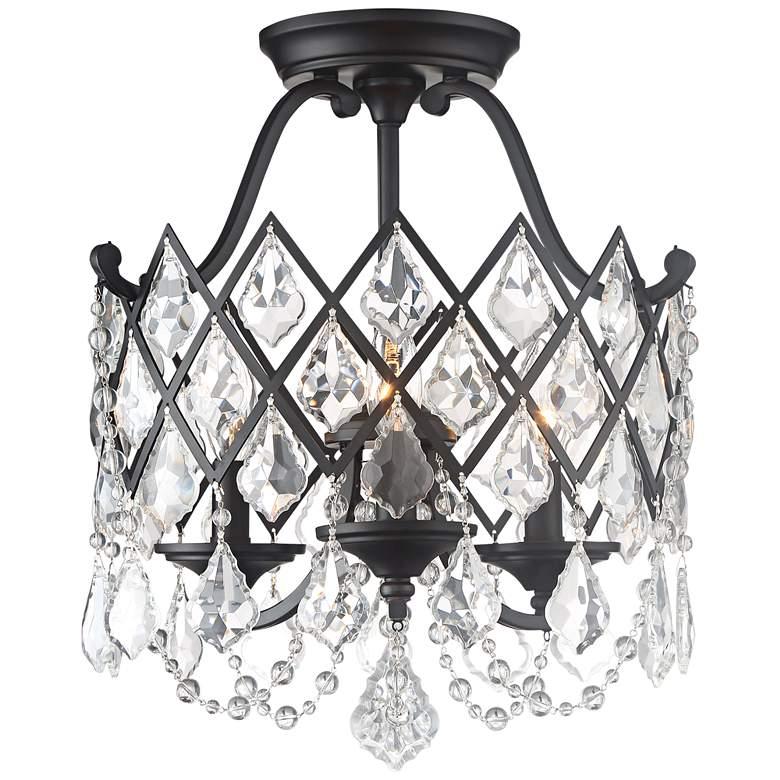 """Ravina 15"""" Wide Vintage Bronze 3-Light Ceiling Light"""