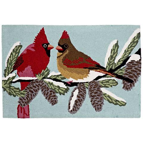Frontporch Cardinals 153803 Blue Outdoor Area Rug