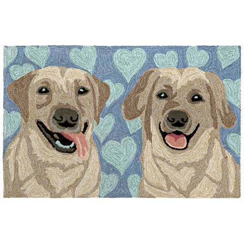 Frontporch Puppy Love 149903 Blue Outdoor Area Rug