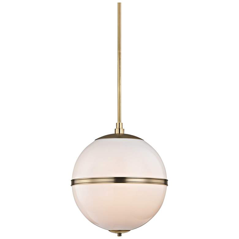 "Crystorama Truax 16"" Wide Aged Brass Pendant Light"