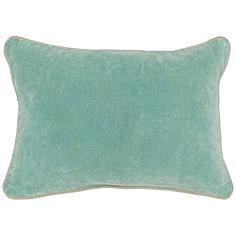 """Heirloom Tidal Velvet 20"""" x 14"""" Decorative Pillow"""