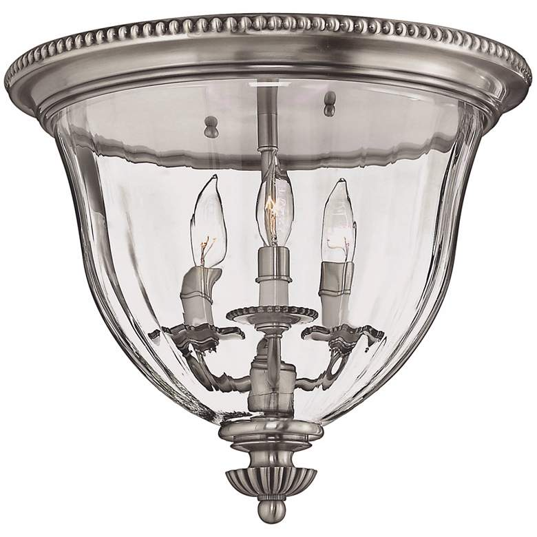"""Cambridge Collection Pewter 14 1/2"""" Wide Ceiling Light"""