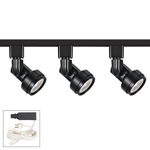 Riley 10W 3-Light Black LED Plug-In Linear Track Kit