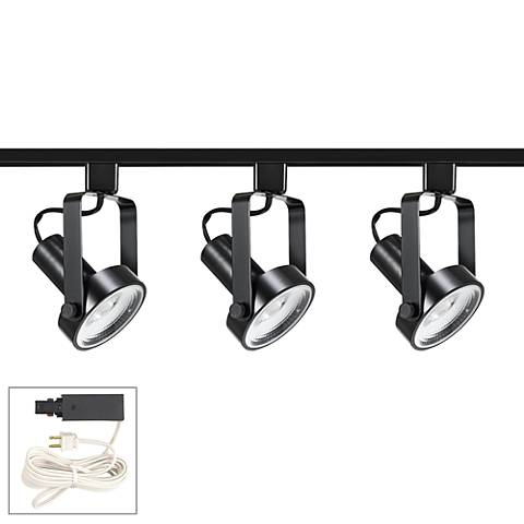 Riley 20W 3-Light Black LED Plug-In Linear Track Kit