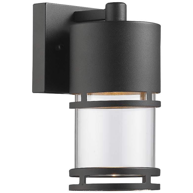 "Luminata 9"" High Black LED Outdoor Wall Light"