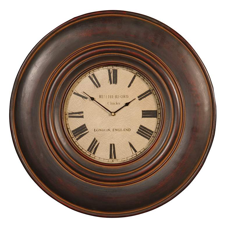 """Old English Ivory Face 23"""" Wide Wall Clock"""