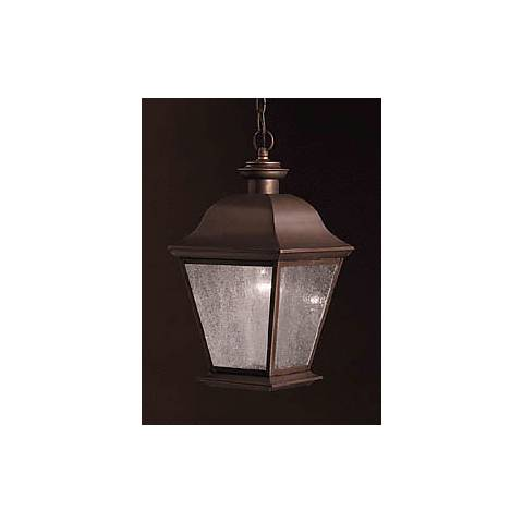 "Kichler Mount Vernon 18"" High Outdoor Hanging Light"