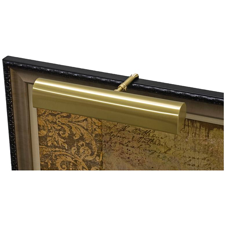 """House of Troy Traditional 18"""" Wide Satin Brass Picture Light"""