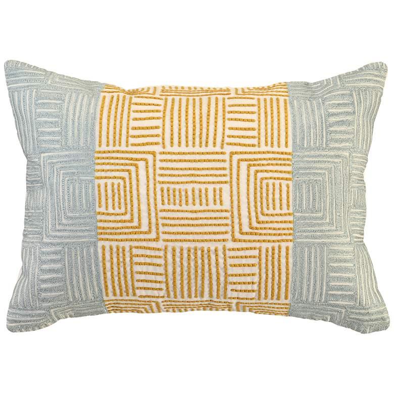 """Dixon Ochre Tidal 20"""" x 14"""" Decorative Pillow"""