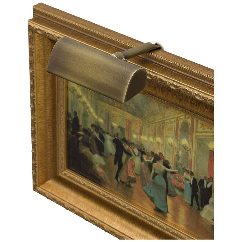 """House of Troy Traditional 4""""W Antique Brass Picture"""