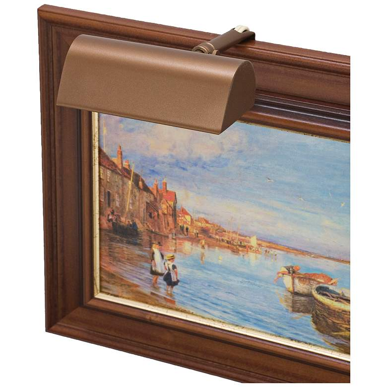 """House of Troy Traditional 5"""" Wide Bronze Picture Light"""