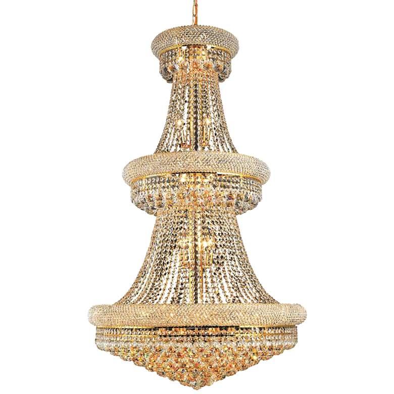 "Primo 30"" Wide Gold 32-Light Crystal Chandelier"