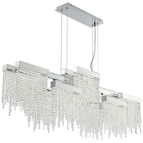 "Eurofase Rossi 51 1/4""W Chrome LED Crystal Island Chandelier"