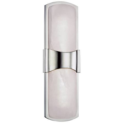 """Hudson Valley Valencia 15""""H Polished Nickel LED Wall Sconce"""
