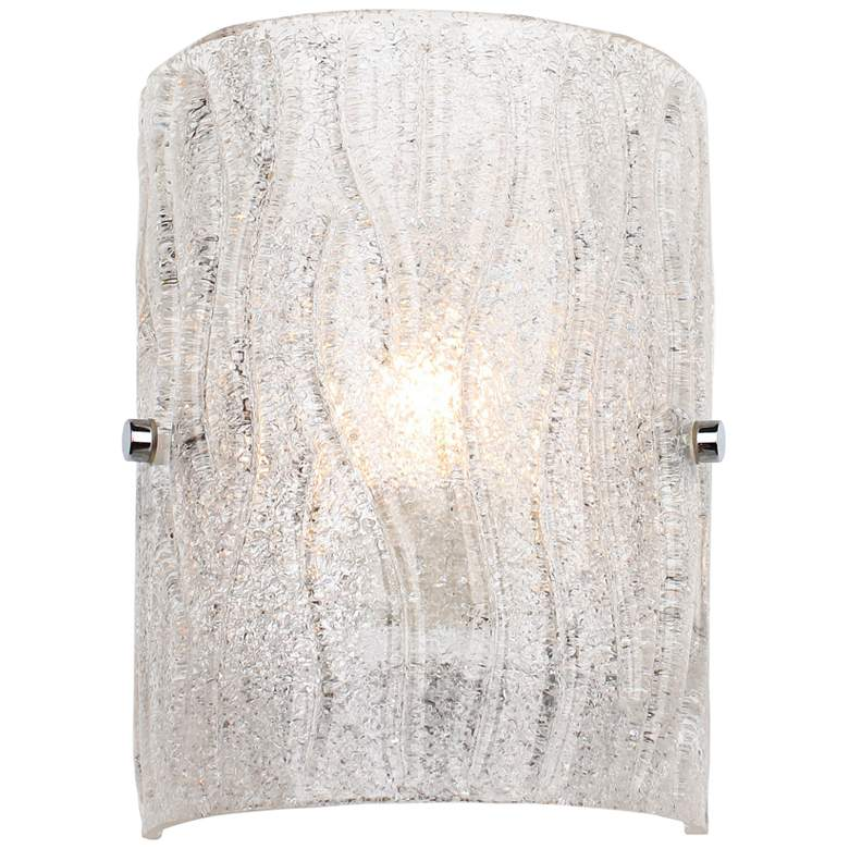 "Varaluz Brilliance 8"" High Chrome Wall Sconce"