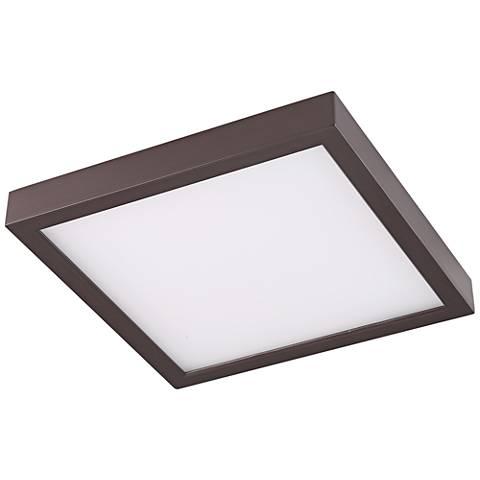 "Disk 12"" Wide Bronze Square LED Ceiling Light"
