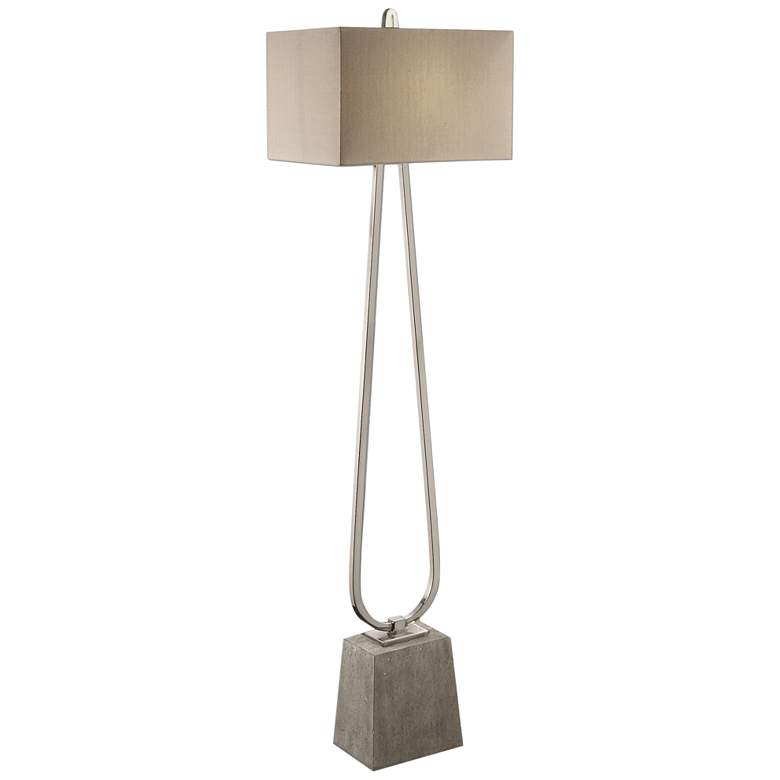 Uttermost Carugo Plated Polished Nickel Floor Lamp