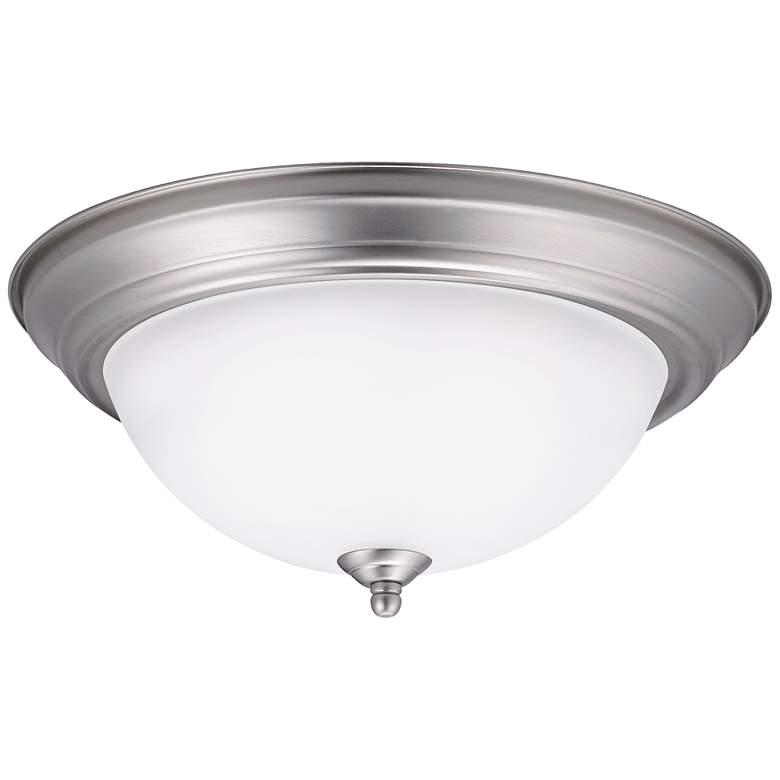 """Kichler Lobos 13 1/4"""" Wide Brushed Nickel LED Ceiling Light"""