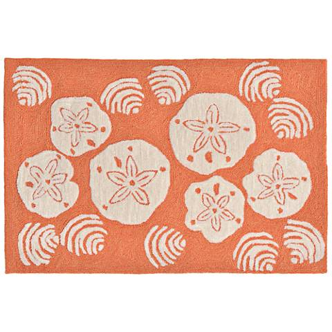 Frontporch Shell Toss 140818 Orange Outdoor Area Rug