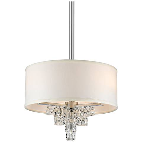 "Crystorama Addison 16"" Wide Polished Chrome Pendant Light"