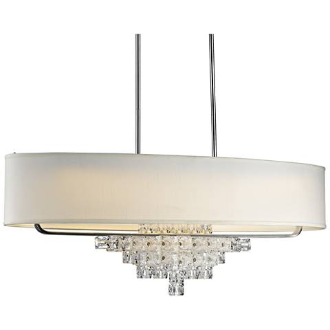 "Crystorama Addison 42"" Wide Polished Chrome Island Pendant"