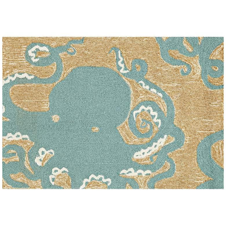 "Frontporch Octopus 143204 2'6""x4' Blue Outdoor Area Rug"