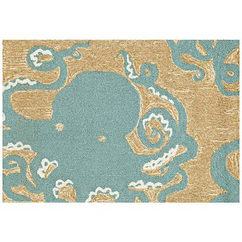 Frontporch Octopus 143204 Blue Outdoor Area Rug