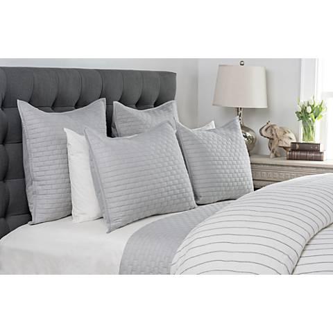 Brick Gray Cotton Quilt
