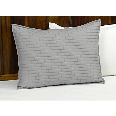 Brick Gray Cotton Pillow Sham