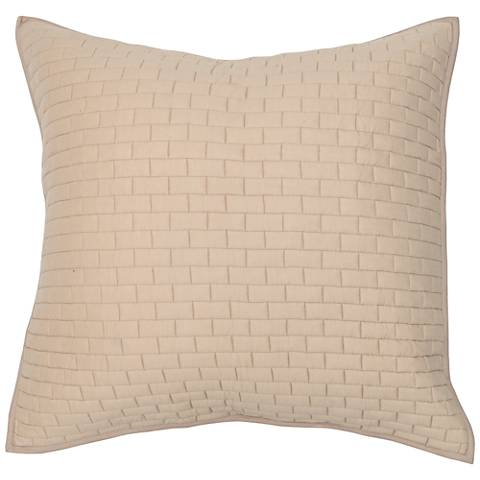 Brick Natural Cotton Pillow Sham
