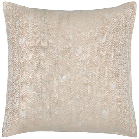 FH Natural and Ivory Fabric Euro Pillow Sham