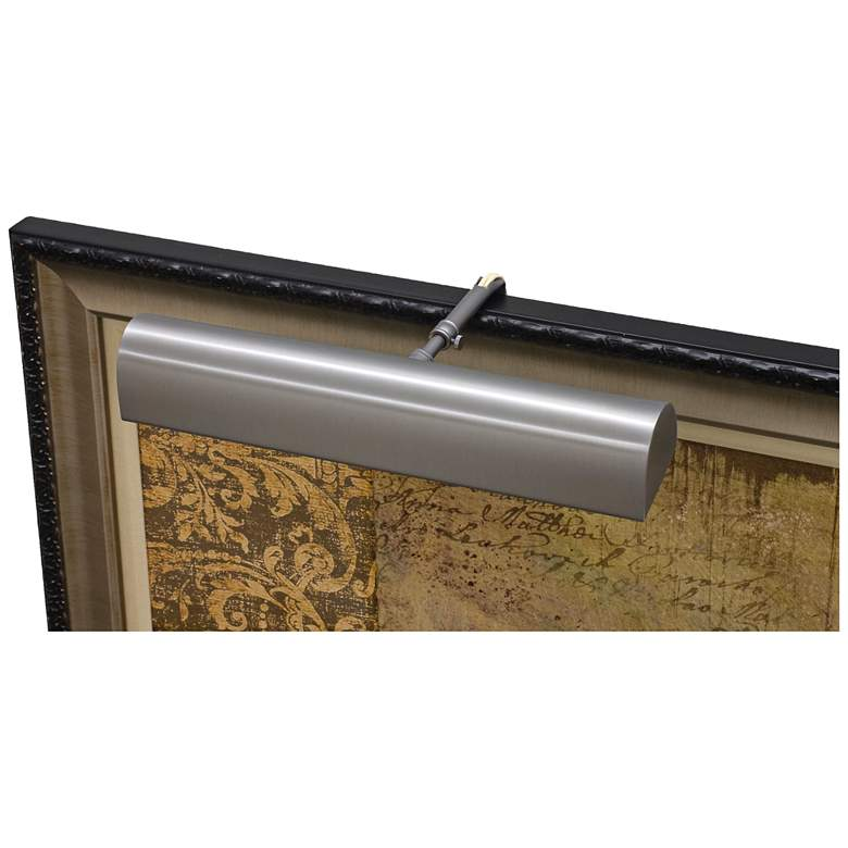 """House of Troy Traditional 14"""" Wide Pewter LED Picture Light"""